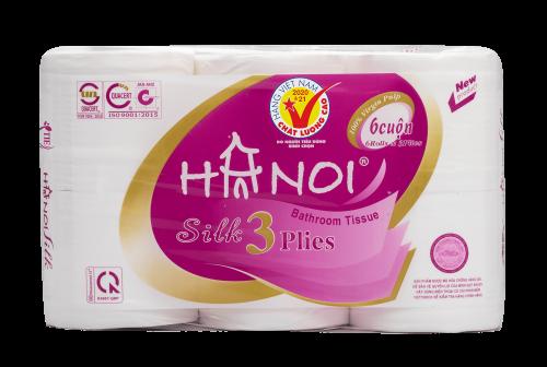 Giấy vệ sinh Hà Nội 3 lớp x 6 cuộn